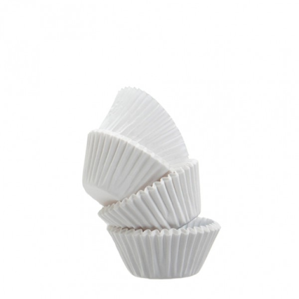 Caissettes à cupcakes blanches, taille moyenne