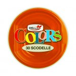 Bols en plastique orange, 250 cc - paquet de 30 assiettes