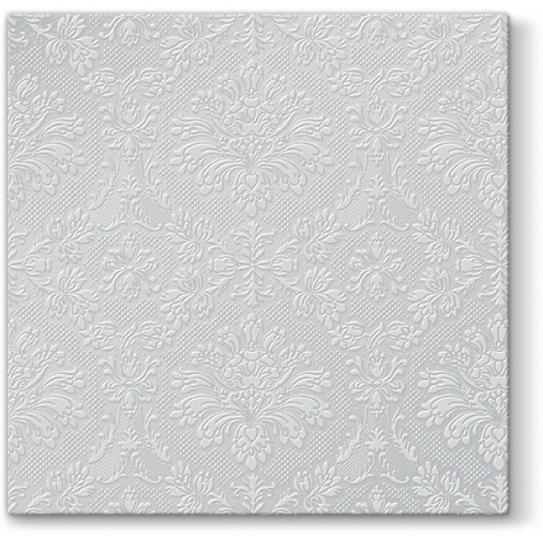 "Serviettes cocktail ""Inspiration Argent"" (33 x 33 cm) - paquet de 20 serviettes"