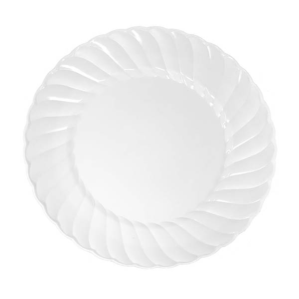 "Grandes assiettes en plastique transparent, 9"" - paquet de 18 assiettes"