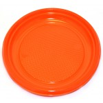"Grandes assiettes en plastique orange, 9"" - paquet de 30 assiettes"
