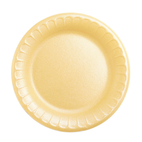 Assiettes en mousse blanc, 7 - paquet de 125 assiettes