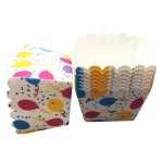 Square muffin cups - pack of 25